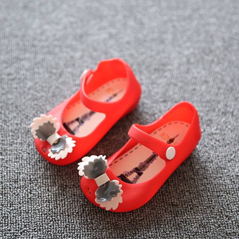 JELLY SHOES ANAK RED + PITA PUTIH (RSBY-1793)
