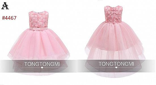 DRESS PESTA ANAK ANGGUN PINK VARIASI FLOWER PINK (A) RSBY-4467